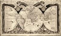Noua Orbis Terrarum 1630 Fine Art Print