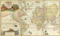 World Map By Gerard Van Keulen Fine Art Print