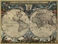 Map of the World by Blaeu 1684 Fine Art Print