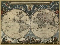 Map of the World by Blaeu 1684 Fine Art Print