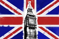 Big Ben Union Jack Fine Art Print