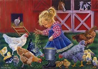 Little Farm Girl Fine Art Print