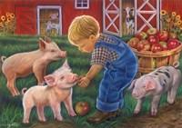 Little Farm Boy Fine Art Print