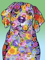Flowers Beagle Fine Art Print