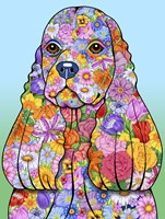 Flowers Cocker Spaniel Fine Art Print