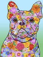 Flowers French Bulldog Fine Art Print