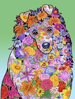 Flowers Shetland Sheepdog Fine Art Print