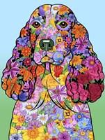 Flowers Springer Spaniel Fine Art Print