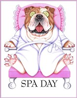 Spa Bulldog Fine Art Print