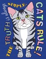 Tabby Cat Graphic Style Fine Art Print
