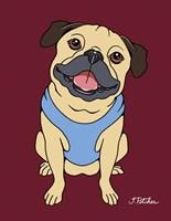 Pug Fawn Fine Art Print
