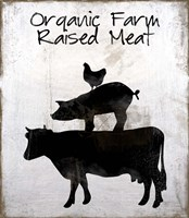Organic Farm Raised Meat Framed Print