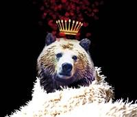 Royal Love Grizzly Bear Framed Print