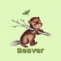 Cute Baby Beaver Fine Art Print