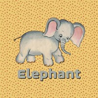 Cute Baby Elephant Fine Art Print