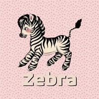 Cute Baby Zebra Fine Art Print