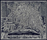 Blueprint Map of Amsterdam 1727 Fine Art Print