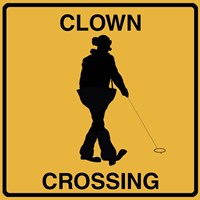 Clown Crossing Fine Art Print