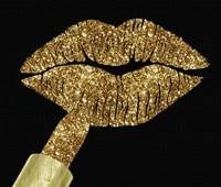Gold Glitter Lipstick Fine Art Print