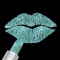 Aqua Glitter Lipstick Fine Art Print