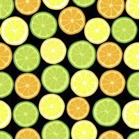Citrus on Black Fine Art Print