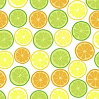Citrus on White Fine Art Print