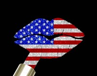 Patriotic Lips I Fine Art Print