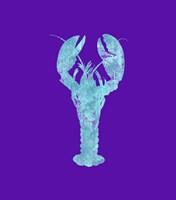 Sponge Lobster Aqua Framed Print