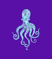 Sponge Octopus Aqua Framed Print