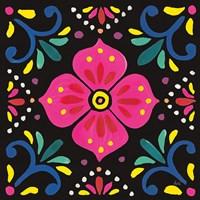 Floral Fiesta Tile IX Fine Art Print