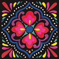 Floral Fiesta Tile V Fine Art Print