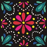 Floral Fiesta Tile II Fine Art Print