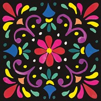 Floral Fiesta Tile III Fine Art Print