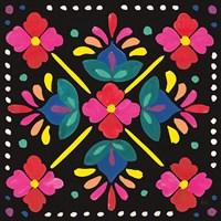 Floral Fiesta Tile I Fine Art Print