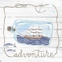 Ship in a Bottle Adventure Shiplap Fine Art Print