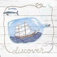 Ship in a Bottle Discover Shiplap Fine Art Print