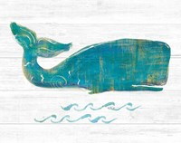 On the Waves I Light Plank Fine Art Print