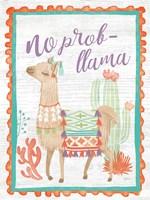 Lovely Llamas IV No Probllama Fine Art Print