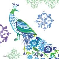 Jewel Peacocks IV Framed Print