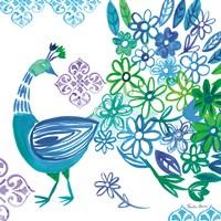 Jewel Peacocks I Framed Print