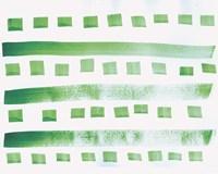 Green Pattern Watercolor copy Fine Art Print