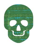 Green Skull Fine Art Print