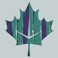 Teal Maple Leaf Fine Art Print