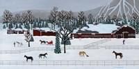 Horse Farm Fine Art Print