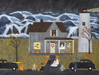 A Stormy Halloween At Sea Fine Art Print