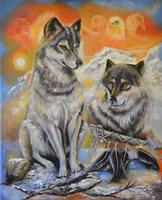 Peace Wolves Fine Art Print