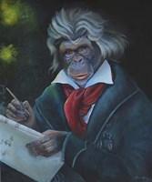 Master Monkey Beethoven Fine Art Print