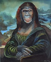 Mona Monkey Lisa Fine Art Print