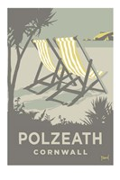 Polzeath Deckchairs Fine Art Print