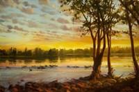 Sunrise On The Columbia Fine Art Print